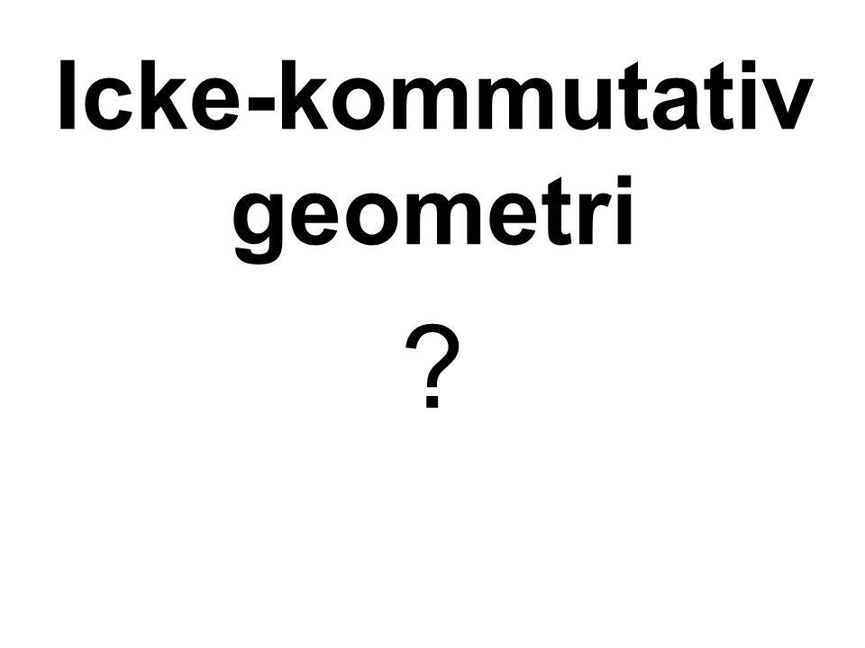 Icke-kommutativ geometri