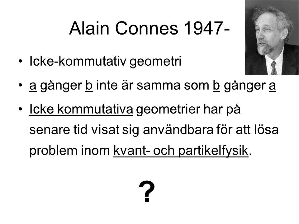 Alain Connes 1947- Icke-kommutativ geometri