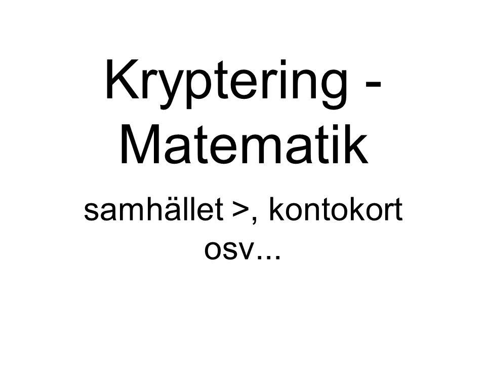 Kryptering - Matematik