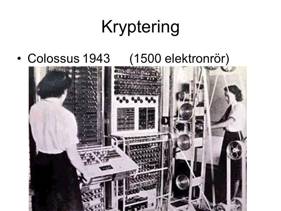 Kryptering Colossus 1943 (1500 elektronrör)