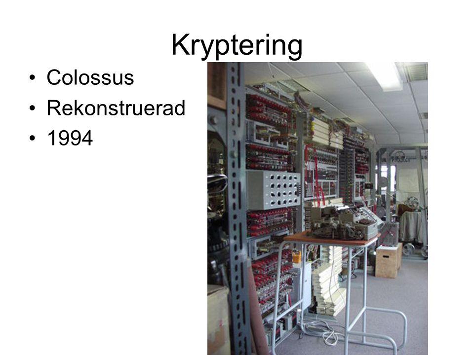 Kryptering Colossus Rekonstruerad 1994