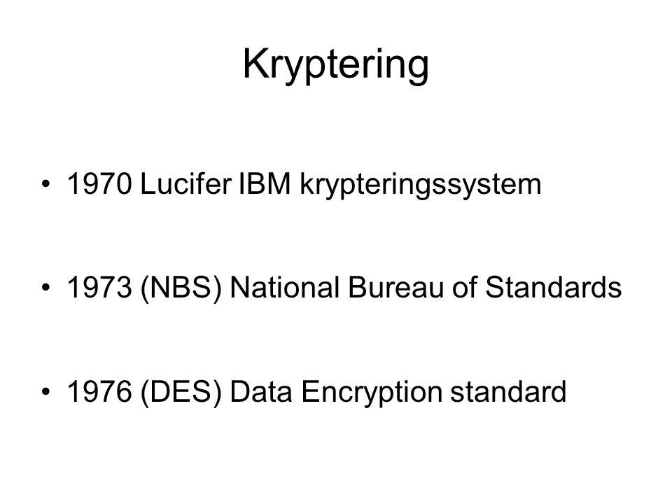 Kryptering 1970 Lucifer IBM krypteringssystem