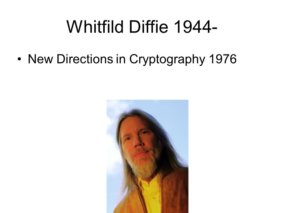 Whitfild Diffie 1944- New Directions in Cryptography 1976