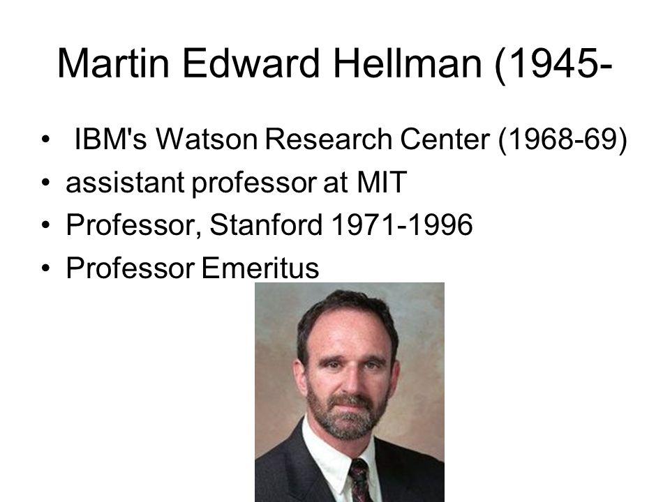 Martin Edward Hellman (1945-