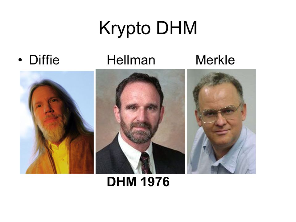 Krypto DHM Diffie Hellman Merkle DHM 1976