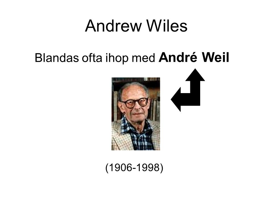 Andrew Wiles Blandas ofta ihop med André Weil (1906-1998)