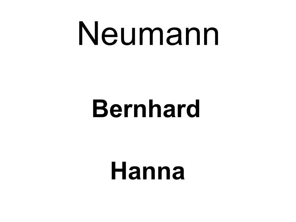 Neumann Bernhard Hanna