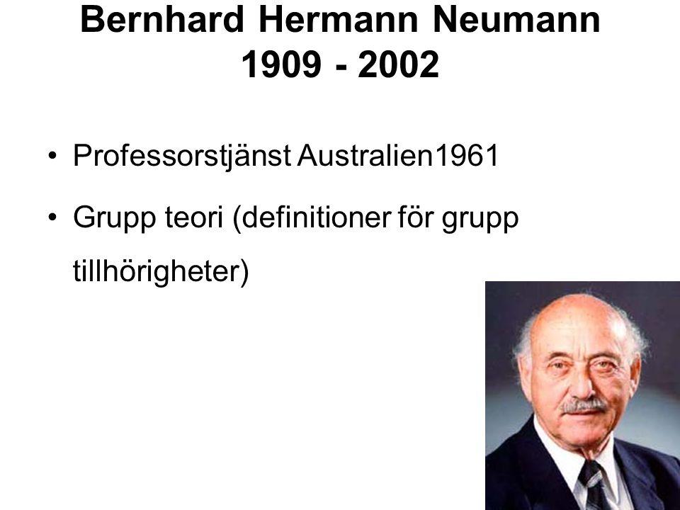 Bernhard Hermann Neumann 1909 - 2002
