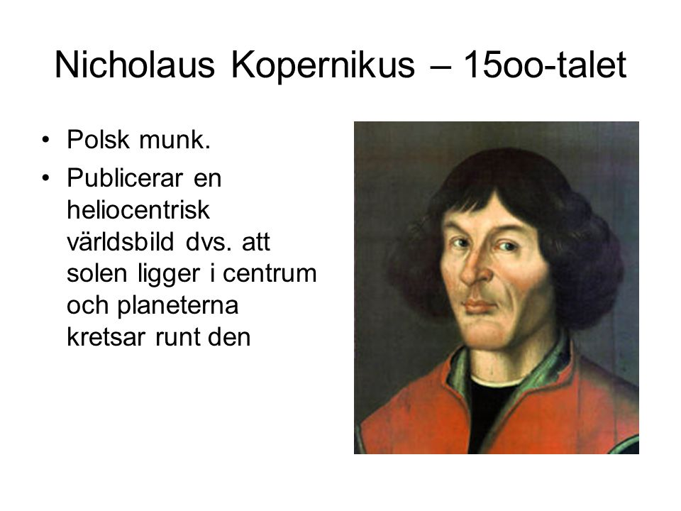 Nicholaus Kopernikus – 15oo-talet