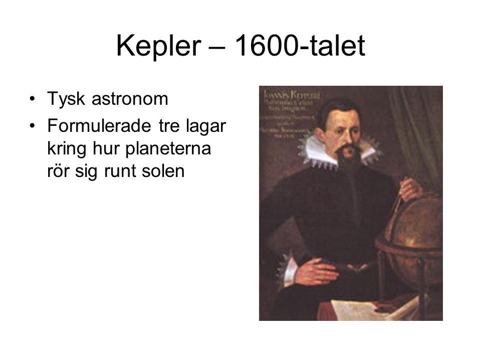 Kepler – 1600-talet Tysk astronom