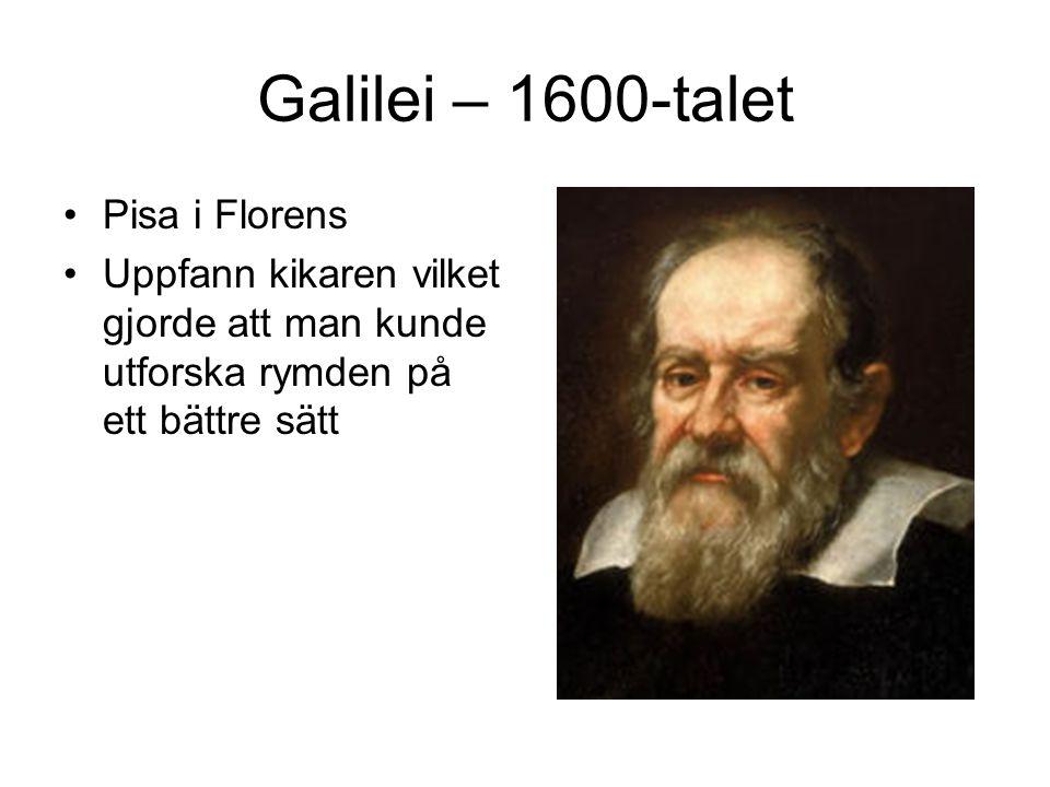 Galilei – 1600-talet Pisa i Florens