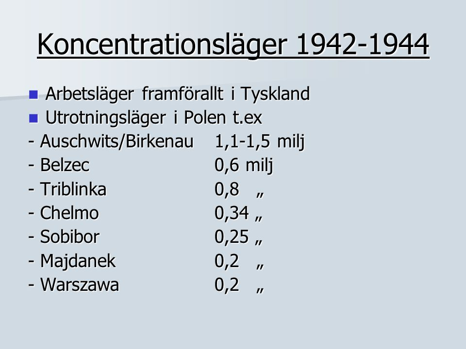 Koncentrationsläger 1942-1944
