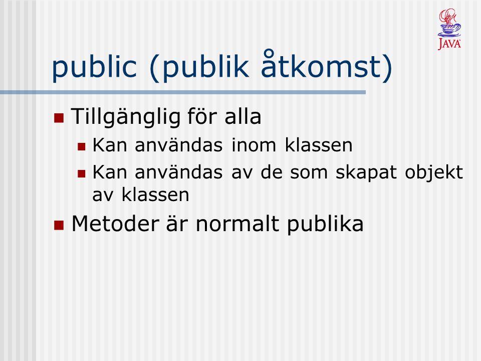 public (publik åtkomst)