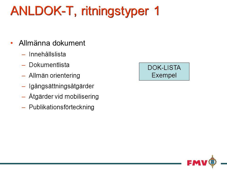 ANLDOK-T, ritningstyper 1