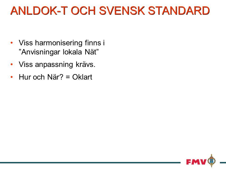 ANLDOK-T OCH SVENSK STANDARD