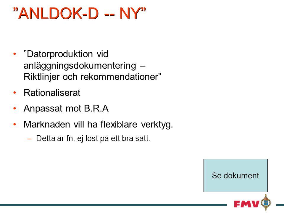 ANLDOK-D -- NY Datorproduktion vid anläggningsdokumentering – Riktlinjer och rekommendationer Rationaliserat.