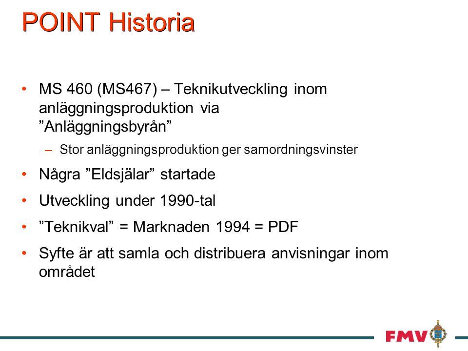 POINT Historia MS 460 (MS467) – Teknikutveckling inom anläggningsproduktion via Anläggningsbyrån Stor anläggningsproduktion ger samordningsvinster.