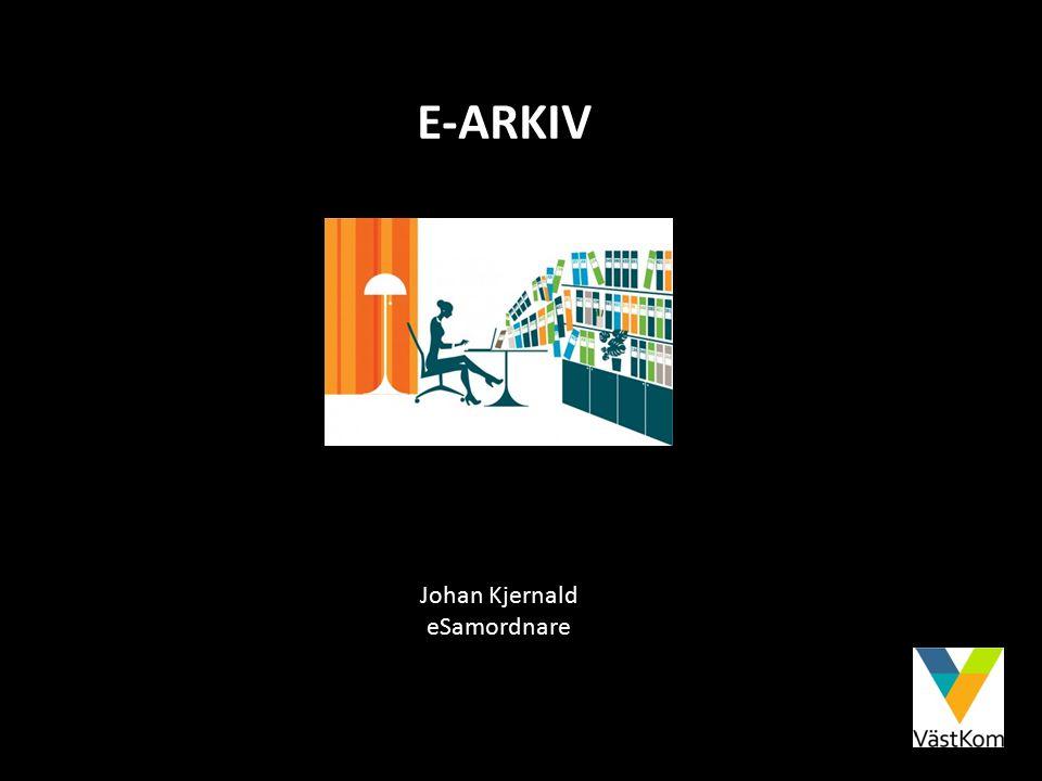 E-ARKIV Johan Kjernald eSamordnare