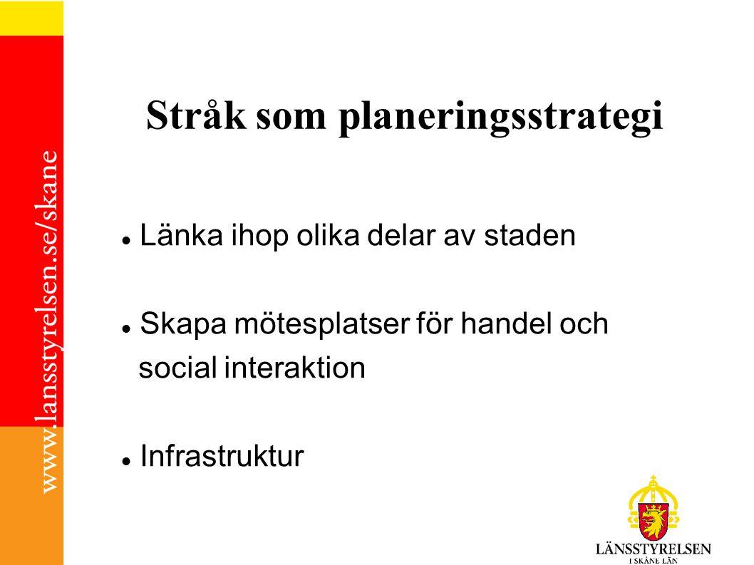 Stråk som planeringsstrategi