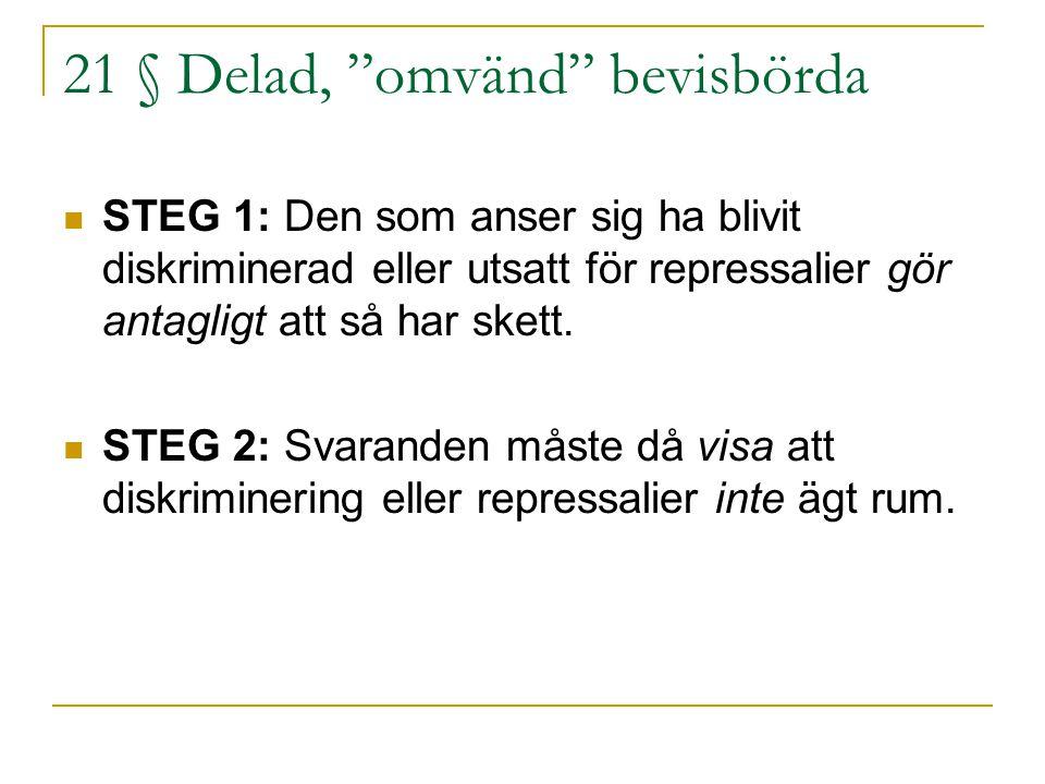 21 § Delad, omvänd bevisbörda
