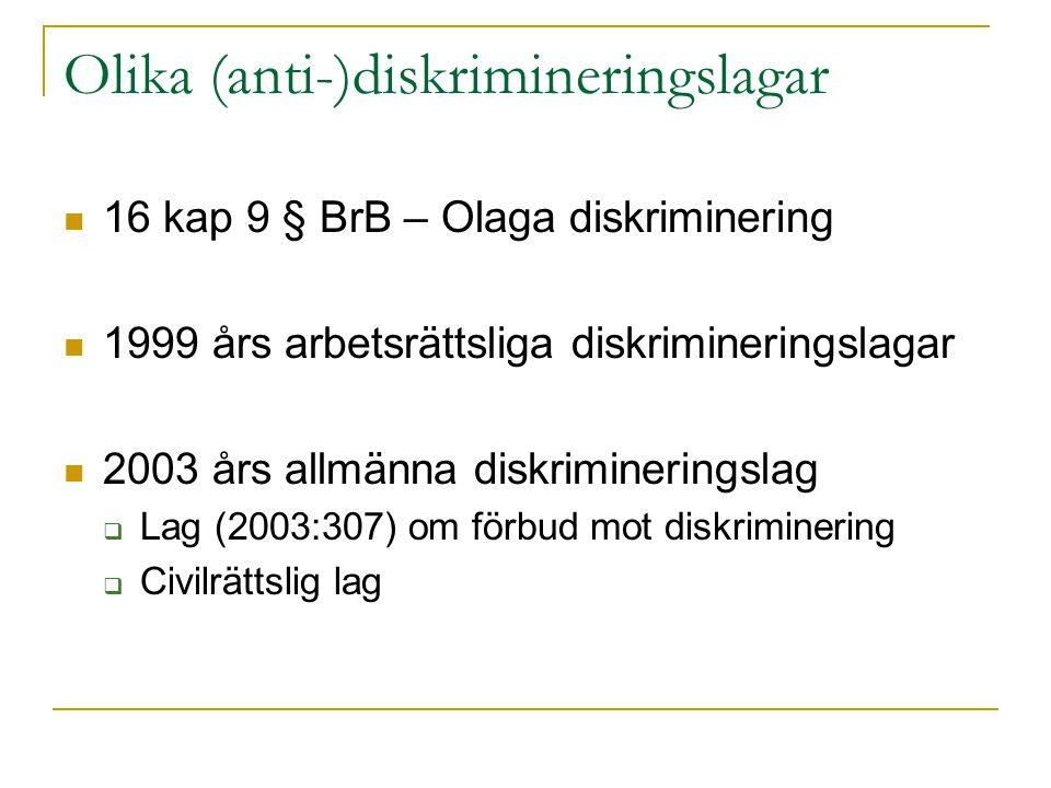 Olika (anti-)diskrimineringslagar
