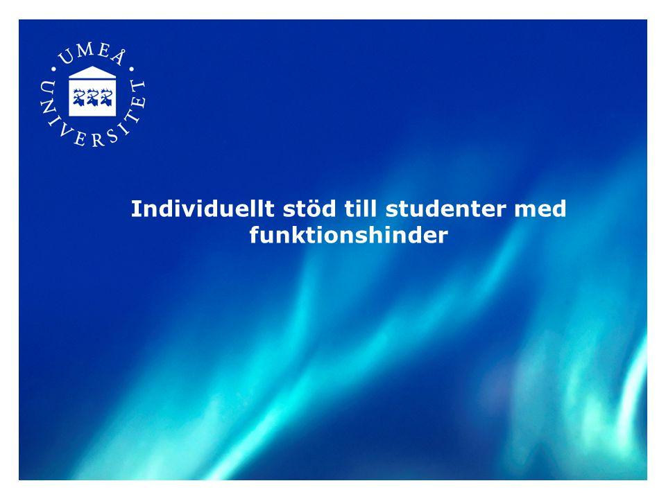 Individuellt stöd till studenter med funktionshinder