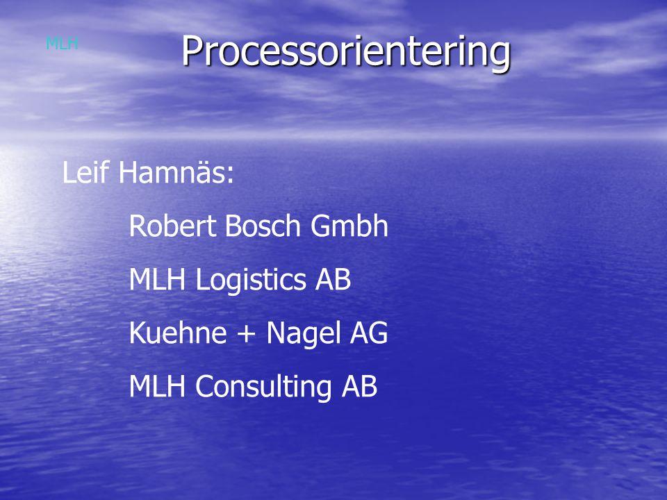 Processorientering Leif Hamnäs: Robert Bosch Gmbh MLH Logistics AB