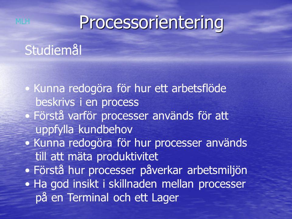 Processorientering Studiemål Kunna redogöra för hur ett arbetsflöde