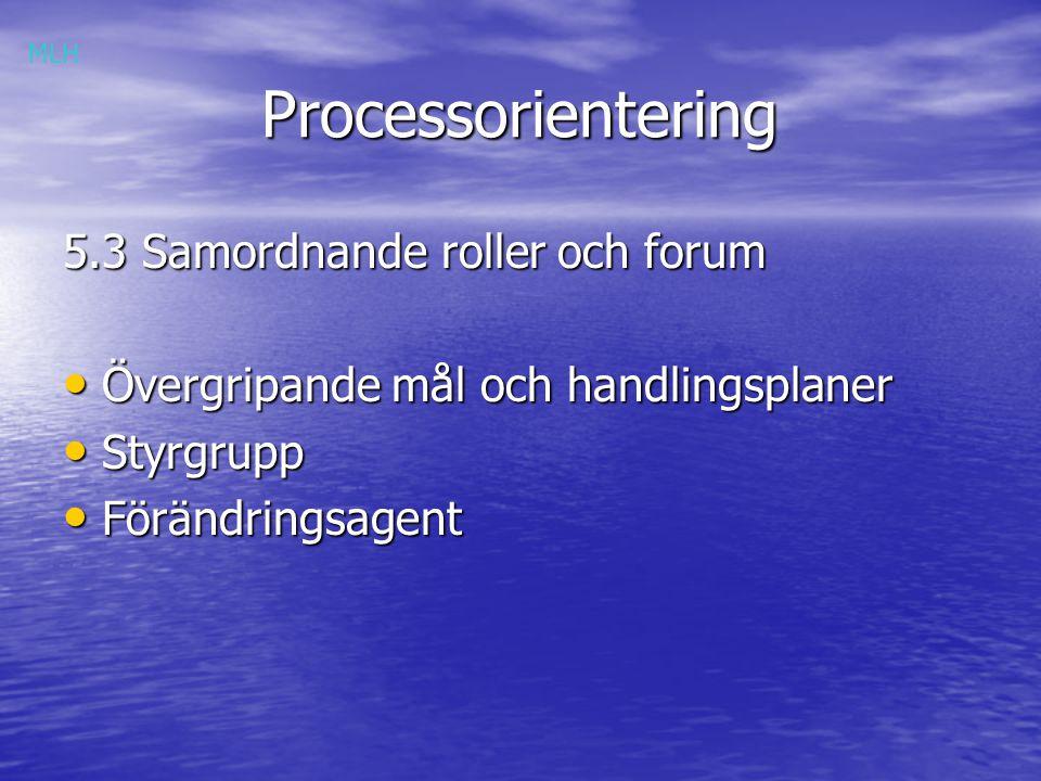 Processorientering 5.3 Samordnande roller och forum