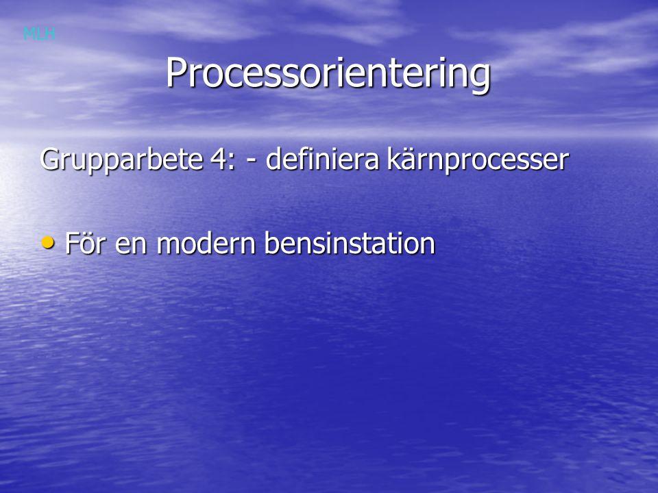 Processorientering Grupparbete 4: - definiera kärnprocesser