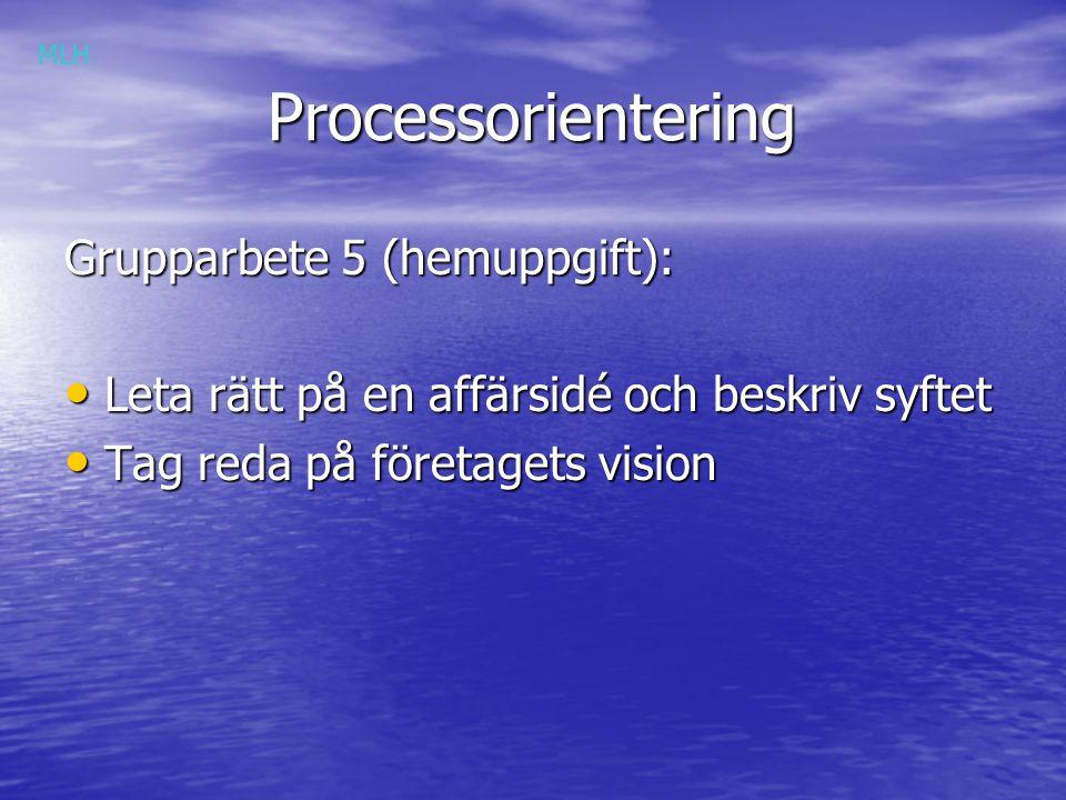 Processorientering Grupparbete 5 (hemuppgift):