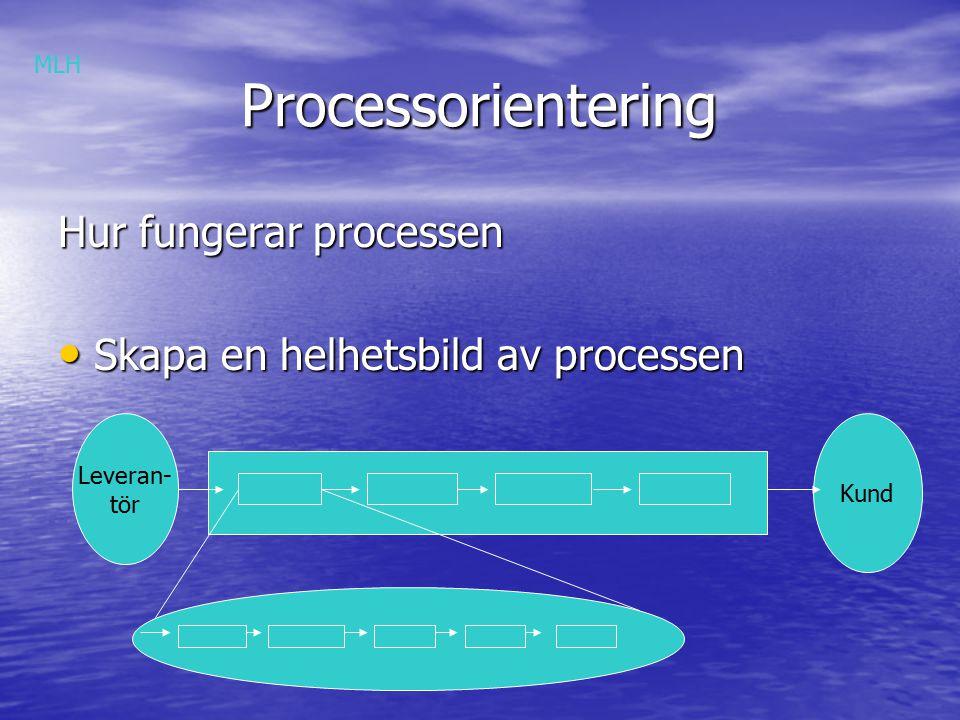 Processorientering Hur fungerar processen