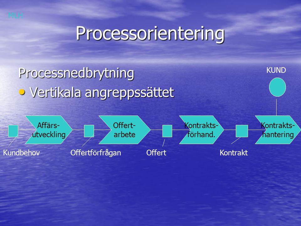 Processorientering Processnedbrytning Vertikala angreppssättet MLH