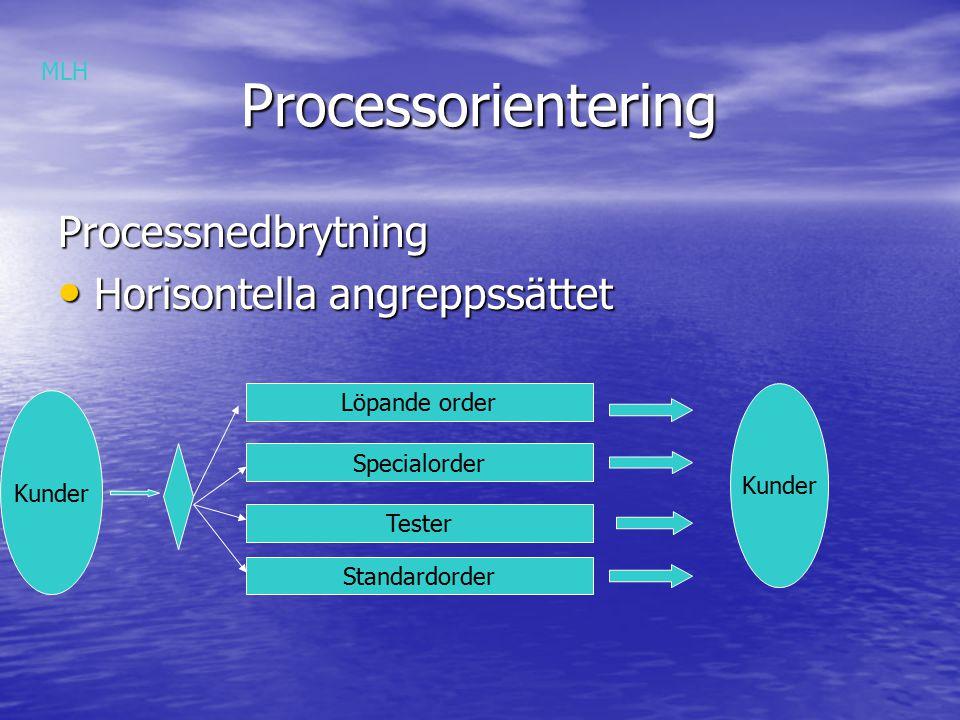 Processorientering Processnedbrytning Horisontella angreppssättet MLH
