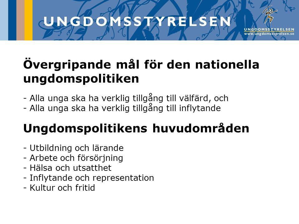 Övergripande mål för den nationella ungdomspolitiken