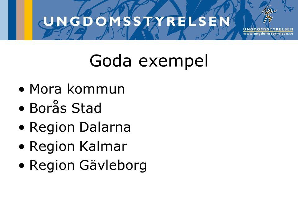 Goda exempel Mora kommun Borås Stad Region Dalarna Region Kalmar