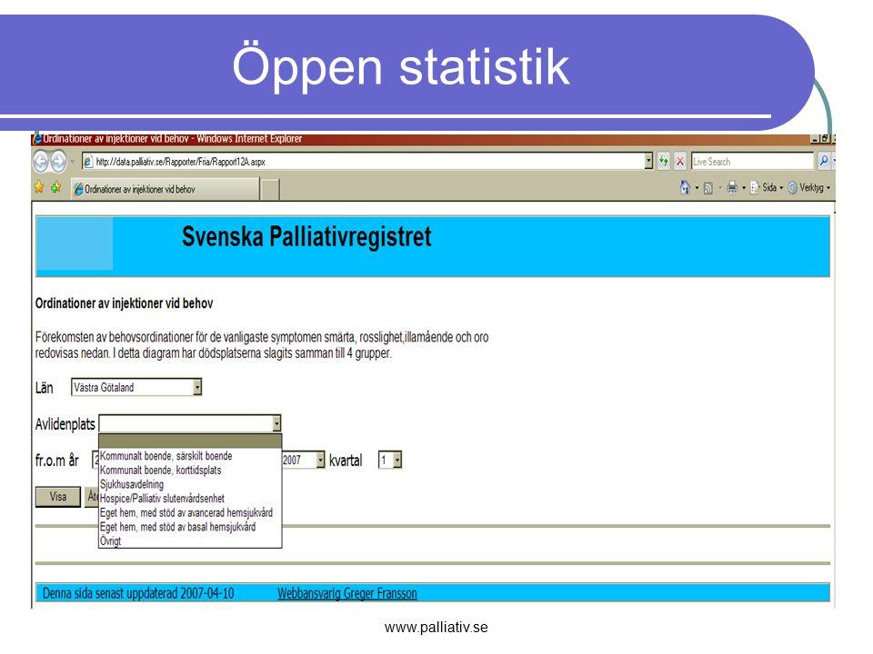 Öppen statistik www.palliativ.se