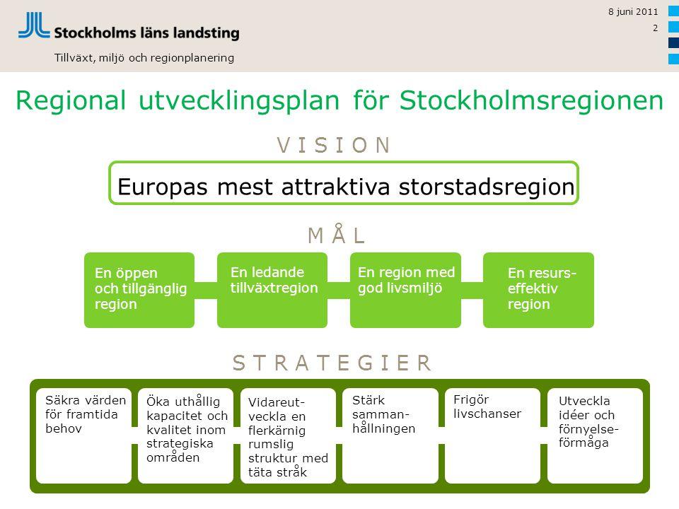 Regional utvecklingsplan för Stockholmsregionen