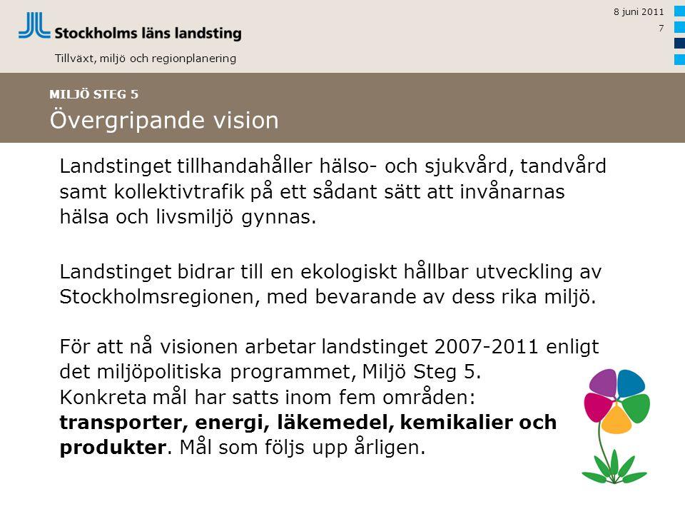 MILJÖ STEG 5 Övergripande vision