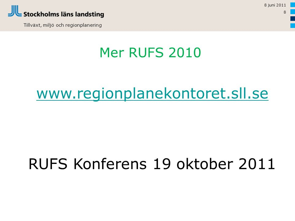 RUFS Konferens 19 oktober 2011