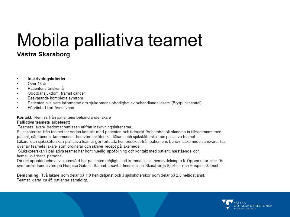 Mobila palliativa teamet Västra Skaraborg
