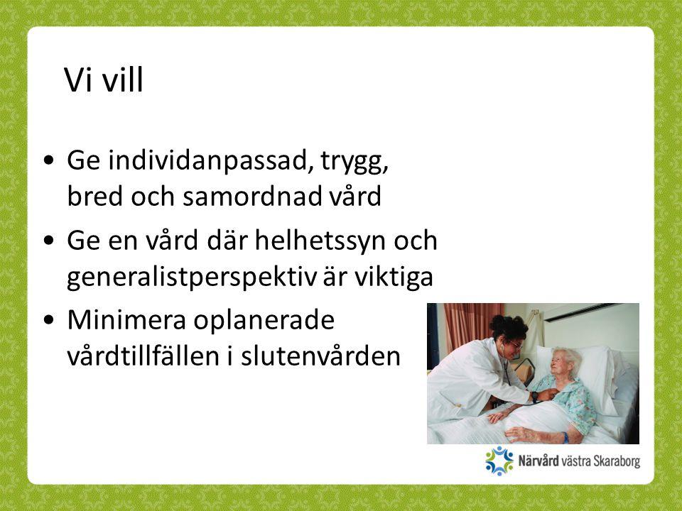 Vi vill Ge individanpassad, trygg, bred och samordnad vård