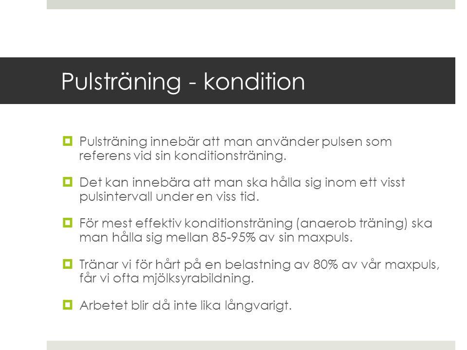 Pulsträning - kondition