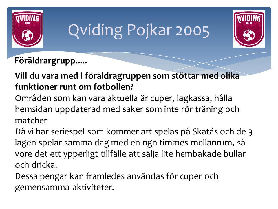 Qviding Pojkar 2005 Föräldrargrupp.....
