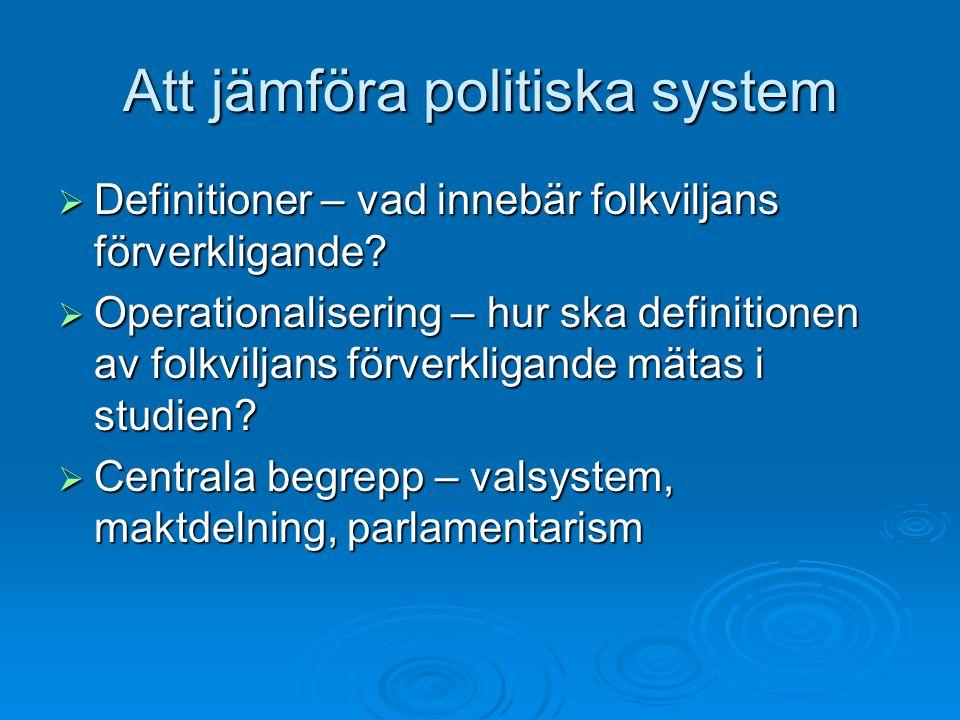 Att jämföra politiska system
