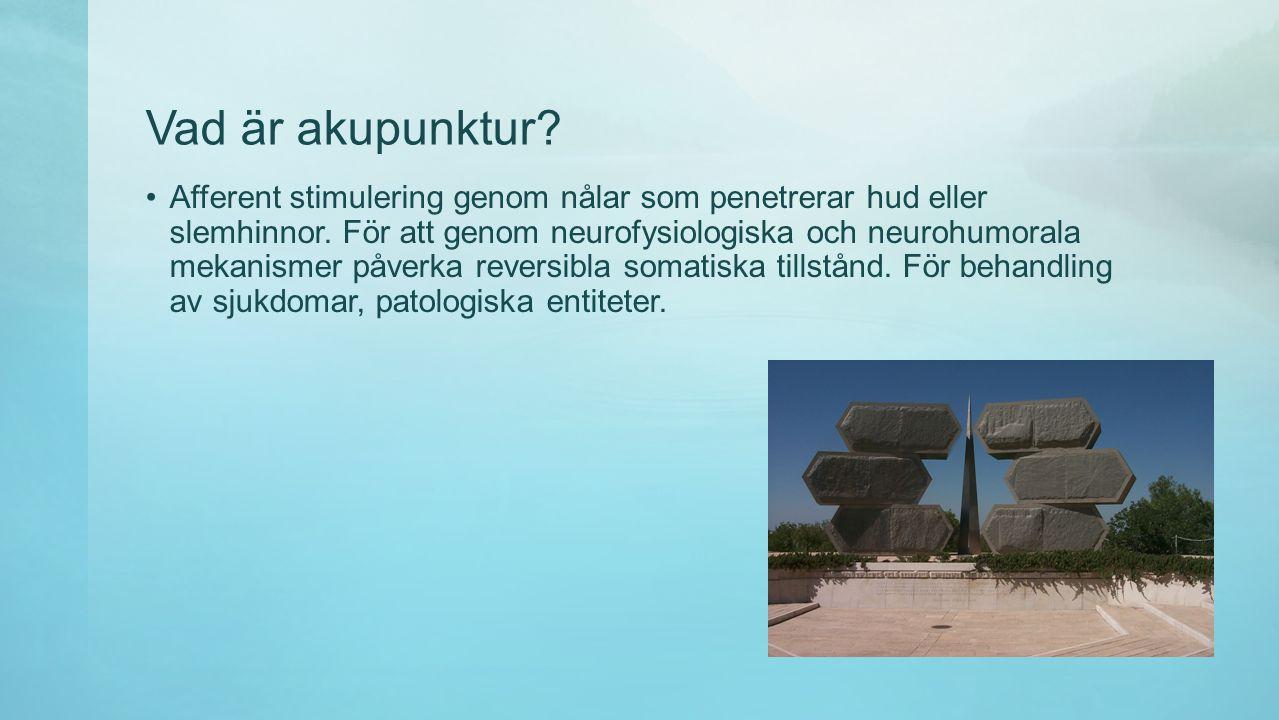 Vad är akupunktur