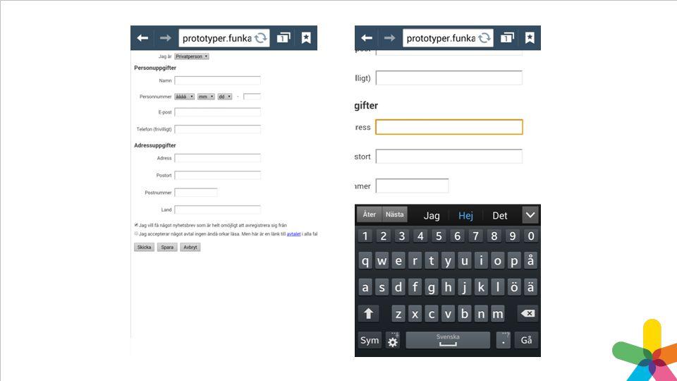 Ledtexter ovanför fungerar också bättre i mobilen