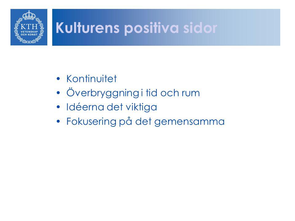 Kulturens positiva sidor