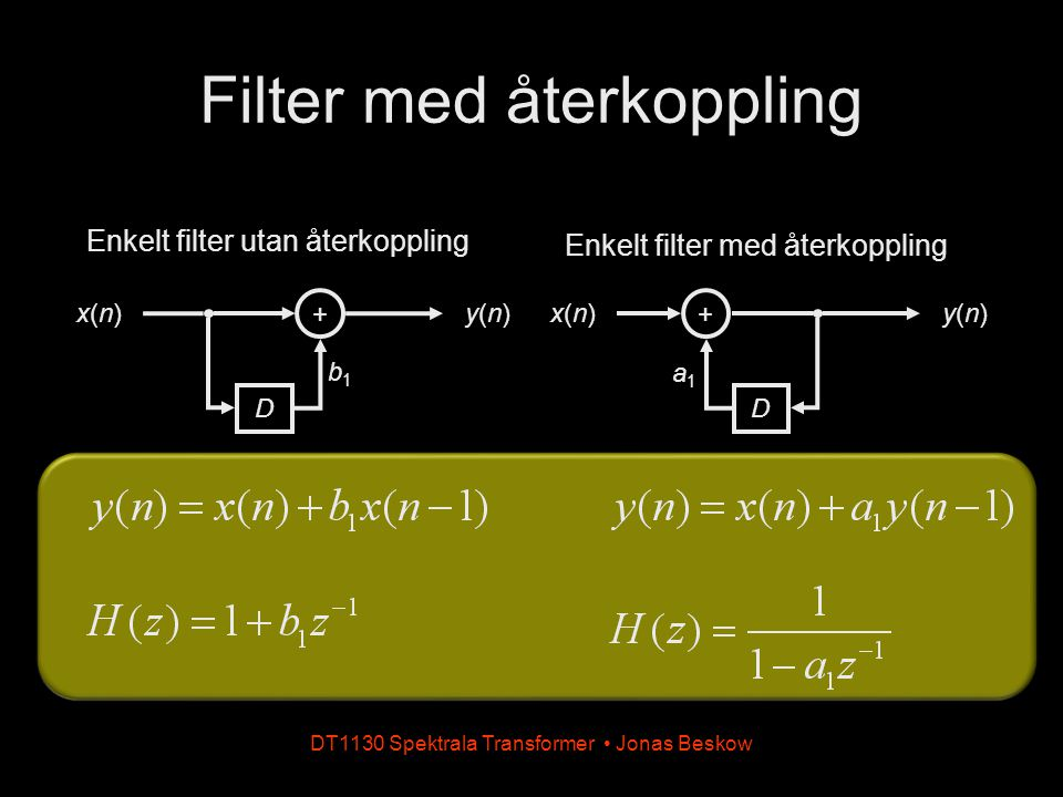 Filter med återkoppling