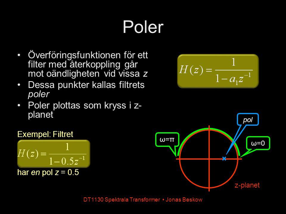 DT1130 Spektrala Transformer • Jonas Beskow